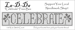Celebrate Free Cross Stitch Chart from La-D-Da