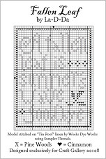 Fallen Leaf Free Cross Stitch Chart from La-D-Da