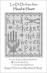Hand & Heart Free Cross Stitch Chart from La-D-Da
