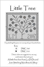 Little Tree Free Cross Stitch Chart from La-D-Da
