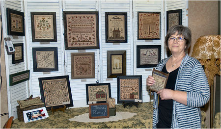 La-D-Da's display at the 2014 Nashville Needlework Wholesale Market