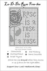 Rose Free Cross Stitch Chart from La-D-Da